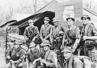 Operation Bribie - 5 Platoon, B Company 6 RAR prior to Operation Bribie. Half the platoon became casualties during the fighting.
