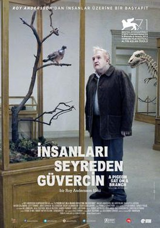 A Pigeon Sat on a Branch Reflecting on Existence - Turkish film poster