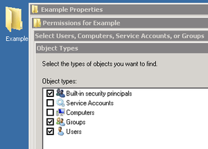 Active Directory - In Active Directory, organizational units cannot be assigned as owners or trustees. Only groups are selectable, and members of OUs cannot be collectively assigned rights to directory objects.