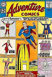Cover art to Adventure Comics #300, which was the first issue of the Legion run in Adventure Comics. Art by Curt Swan.