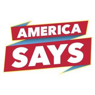 America Says - Image: America Says Logo