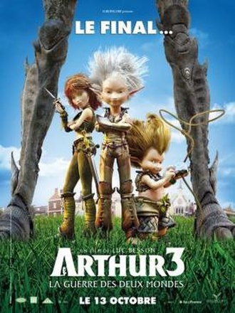 Arthur 3: The War of the Two Worlds - French theatrical release poster