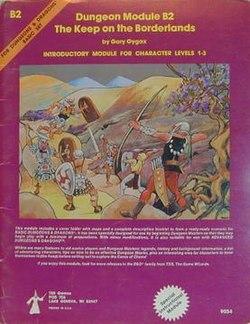 B2 Keep on the Borderlands module cover (courtesy Wikipedia)