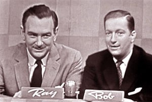 Bob and Ray - Ray Goulding and Bob Elliott hosting The Name's the Same in 1955.