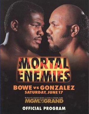 Riddick Bowe vs. Jorge Luis González - Image: Bowe vs Gonzalez