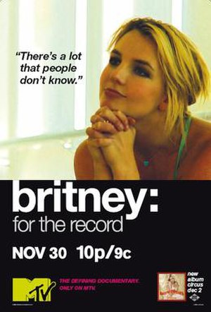 Britney: For the Record - MTV poster
