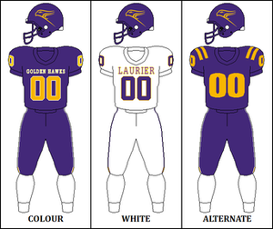 Wilfrid Laurier Golden Hawks - Image: CIS Wilfrid Laurier Jersey