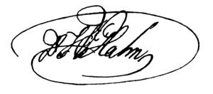 Carl Wilhelm Hahn - Image: CW Hahn Signature 1819