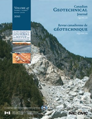 Canadian Geotechnical Journal - Image: Canadian Geotechnical Journal