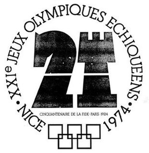 21st Chess Olympiad - Official logo of the Olympiad.