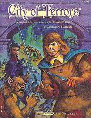 City of Terrors - Image: City of Terrors, role playing game adventure