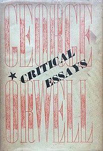 <i>Critical Essays</i> (Orwell) book by George Orwell