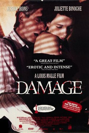 Damage (1992 film) - Theatrical poster