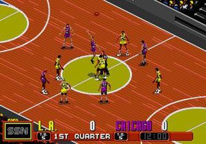 David Robinson's Supreme Court - A tip-off from a match between Los Angeles and Chicago.