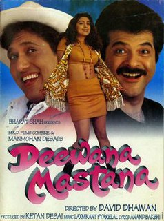 <i>Deewana Mastana</i> 1997 Indian film directed by David Dhawan