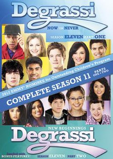 <i>Degrassi</i> (season 11) season of television series