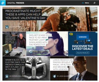 Digital Trends - Image: Digital Trends Website Screenshot Feb. 2017