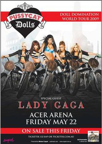 Doll Domination Tour - Promotional poster for the Acer Arena show