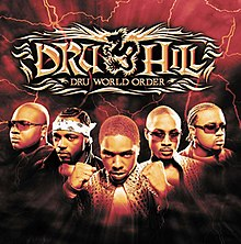 The cover to Dru Hill's 2002 LP, Dru World Order. From left to right: Jazz, Scola, Sisqó, Nokio, and Woody.