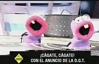 El Hormiguero - Barrancas (left) and Trancas (right) sing along with the show's rap