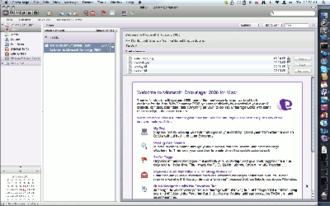 Microsoft Entourage - Image: Entourage mac 2008 mac os x leopard