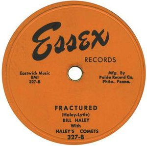 "Marshall Lytle - Top 40 hit ""Fractured"" by Bill Haley With Haley's Comets released as an Essex Records 78, 327-B, in 1953."