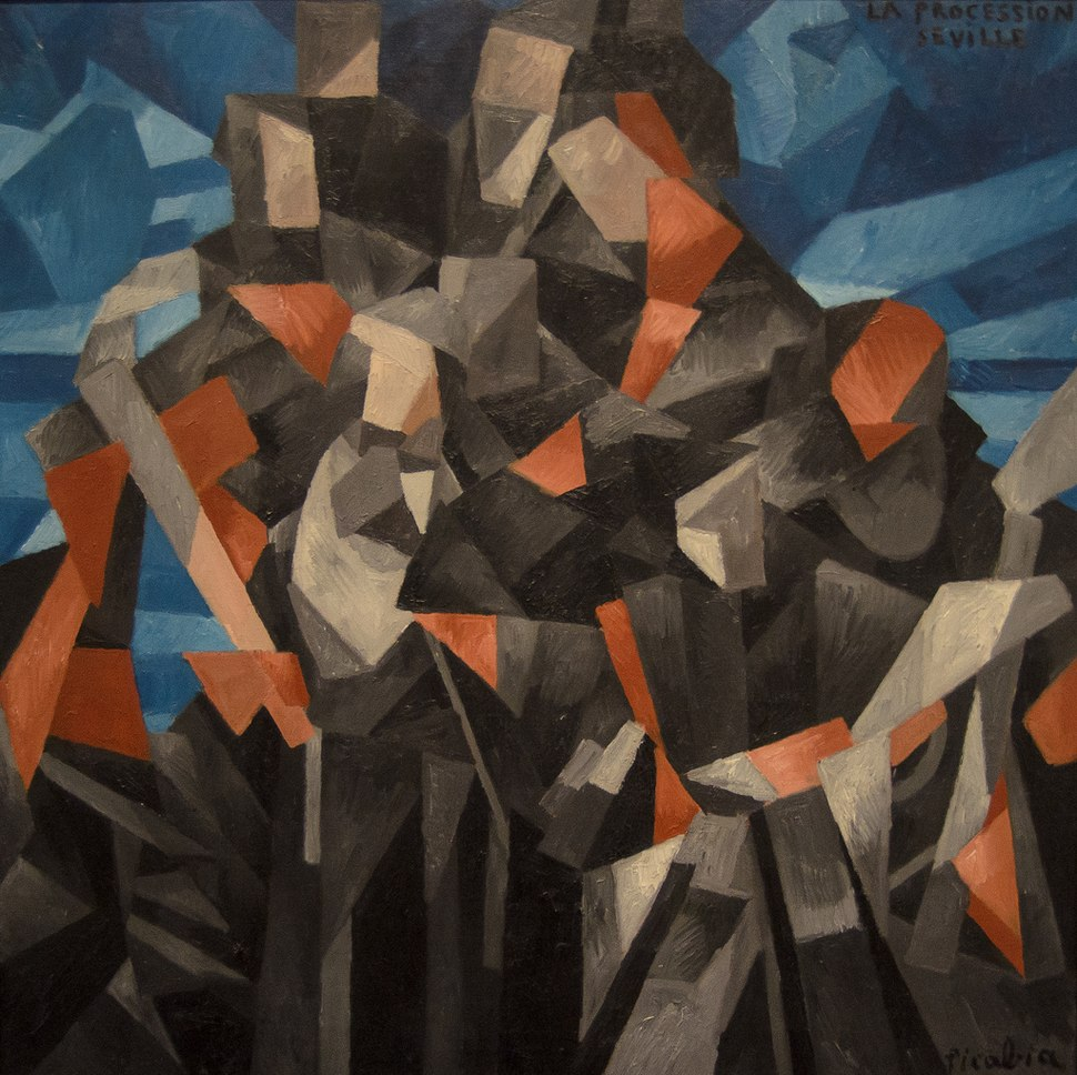 Francis Picabia, 1912, The Procession, Seville, oil on canvas, 121.9 x 121.9 cm, National Gallery of Art, Washington DC