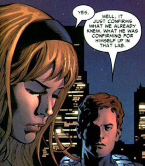 Gabriel Stacy and Sarah Stacy - Gabriel Stacy (right) and Sarah Stacy (left). Art by Mike Deodato.
