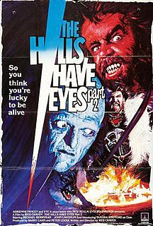 <i>The Hills Have Eyes Part II</i> 1985 film by Wes Craven