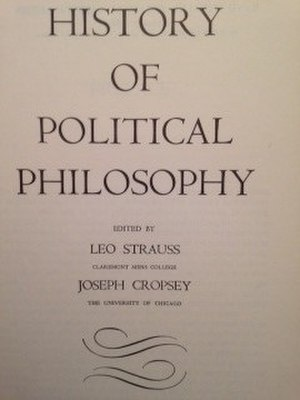 History of Political Philosophy - Cover of the first edition
