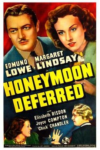 Honeymoon Deferred (1940 film) - Theatrical release poster