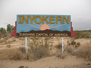 Inyokern, California - Inyokern entrance sign