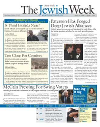 The Jewish Week - Front page