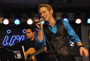 Jonny Blu performing live at Iridium Jazz Club...