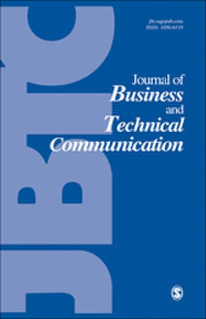 Journal of Business and Technical Communication - Image: Journal of Business and Technical Communication