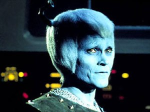 "Andorian - Thelev, an Orion assassin disguised as an Andorian, from the 1967 original series episode ""Journey to Babel""."