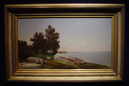 Study on Long Island Sound at Darien, Connecticut, (1872) by John Kensett