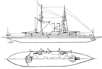 King Edward VII-class battleship - Line-drawing of the King Edward VII class