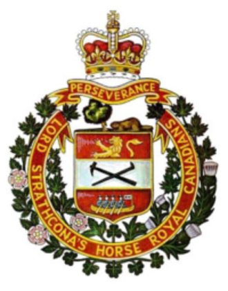 Lord Strathcona's Horse (Royal Canadians) - Cap badge of Lord Strathcona's Horse