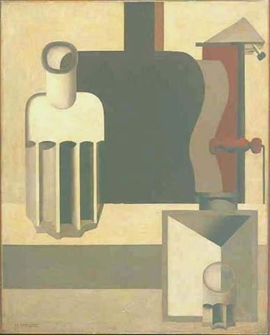 Le Corbusier (Charles-Édouard Jeanneret), 1920, Guitare verticale (2ème version), oil on canvas, 100 x 81 cm, Fondation Le Corbusier, Paris