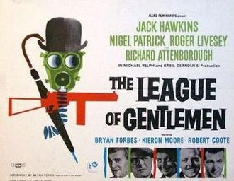 The League of Gentlemen (film) - British quad poster for the film