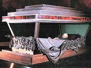 Lenin's Mausoleum - Lenin's preserved body, inside the mausoleum