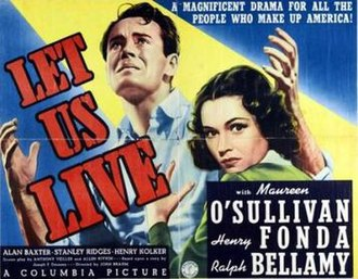 Let Us Live - Theatrical release poster