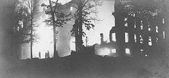 History of the University of Maryland, College Park - The campus ablaze during the 1912 fire