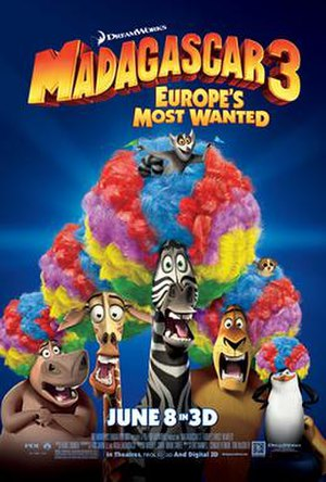 Madagascar 3: Europe's Most Wanted - Theatrical release poster
