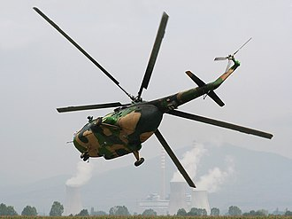 Mil Mi-17 - Macedonian Air Force Mi-17 performing a very tight low-level right turn