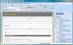 Microsoft Office InfoPath Screenshot