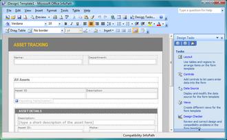 Microsoft InfoPath - Microsoft Office InfoPath 2007 running on Windows Vista
