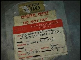 Doctor Who missing episodes - Film can containing a 16 mm film telerecording print of The Evil of the Daleks, Episode 2.