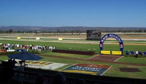 Morphettville Racecourse - View of the racecourse and winners circle from the grandstand